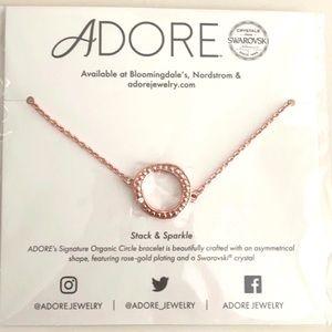 Adore by Swarovski Organic Circle Bracelet